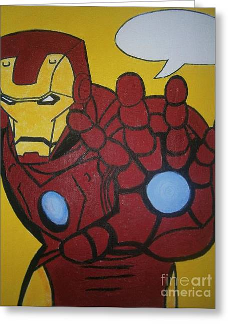 Ironman Paintings Greeting Cards - Ironman Greeting Card by Neal Crossan