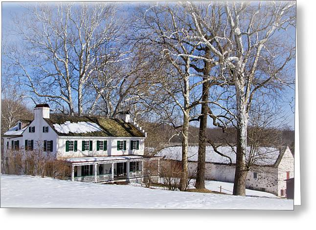 Restored Plantation Greeting Cards - Ironmasters house Greeting Card by Carolyn Derstine