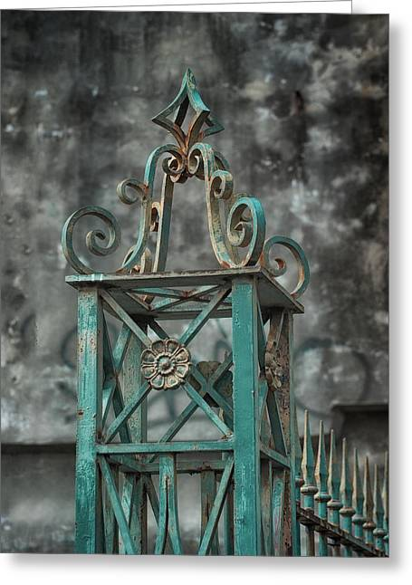 Brenda Bryant Photographs Greeting Cards - Ironwork in the Quarter Greeting Card by Brenda Bryant