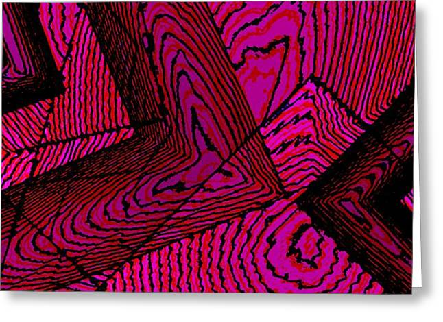 Geometric Art Greeting Cards - Irregular lines Greeting Card by Mario  Perez