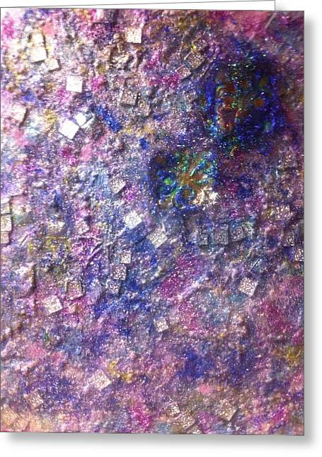 Fused Mixed Media Greeting Cards - Irridescence  Greeting Card by Jill Lynne Ness