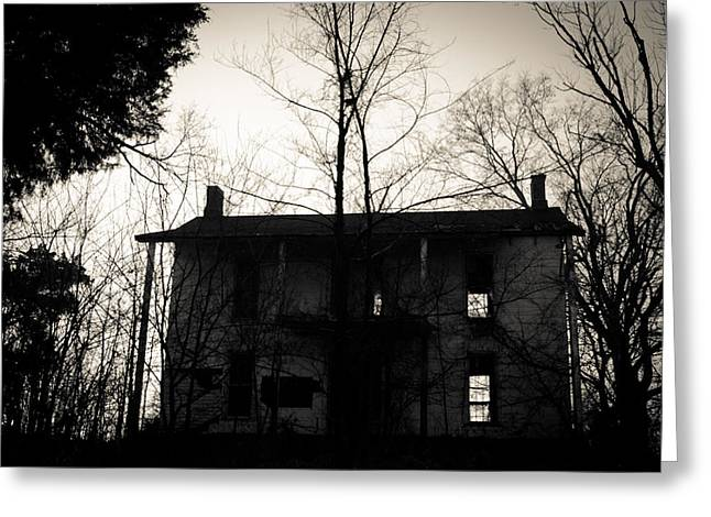 Abandoned Houses Greeting Cards - Is Anybody Home Greeting Card by Off The Beaten Path Photography - Andrew Alexander
