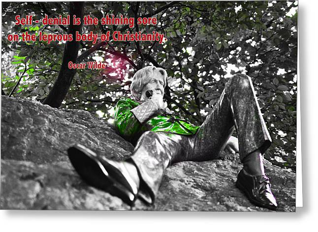Oscar Wilde Digital Greeting Cards - Is Christianity really the best way of living our lives today? Greeting Card by Alex Art