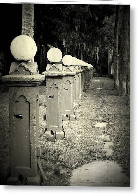 Streetlight Greeting Cards - Is in a row Greeting Card by Laurie Perry