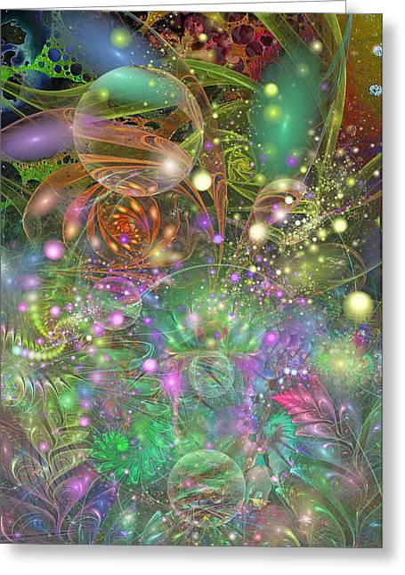 Fractal Orbs Greeting Cards - Is It Dawn Or Dusk Greeting Card by Chris Girard
