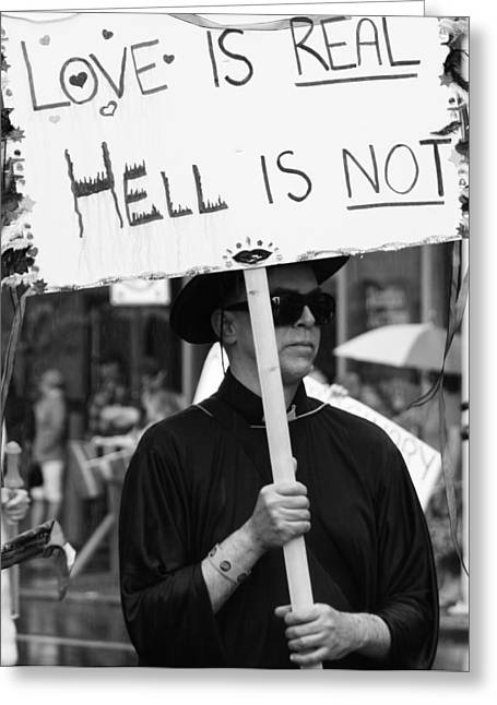 Protest Greeting Cards - Is Not  Greeting Card by Jerry Cordeiro