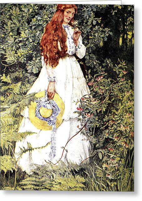 Garden Scene Digital Art Greeting Cards - Is She Not Pure Gold My Mistress Greeting Card by Eleanor Fortescue Brickdale
