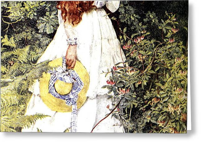 Is She Not Pure Gold My Mistress Greeting Card by Eleanor Fortescue Brickdale