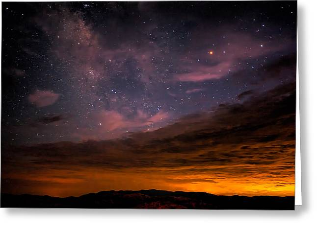 Star Points Greeting Cards - Is this Heaven Greeting Card by Peter Tellone