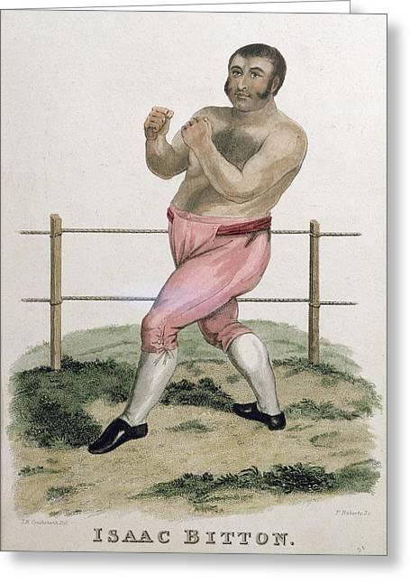 Sideburns Drawings Greeting Cards - Isaac Bitton, Engraved By P. Roberts Greeting Card by Isaac Robert Cruikshank
