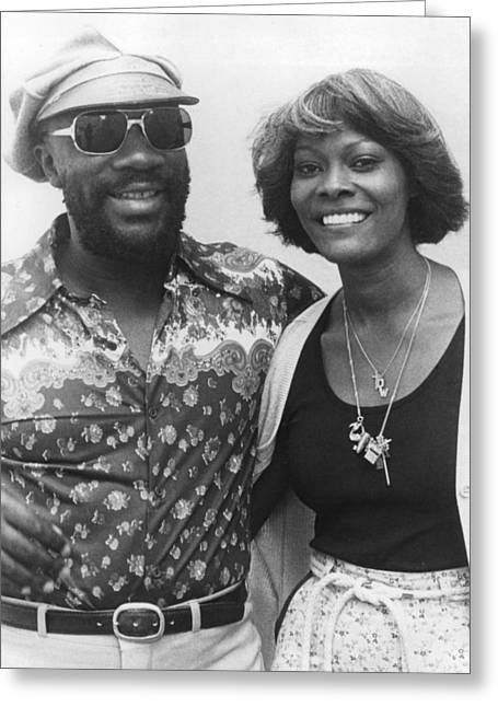 Isaac Greeting Cards - Isaac Hayes Greeting Card by Silver Screen