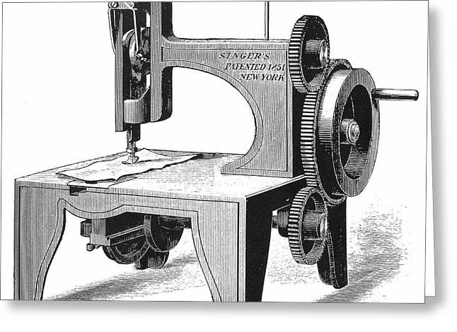 Isaac Singer's First Sewing Machine Greeting Card by Universal History Archive/uig