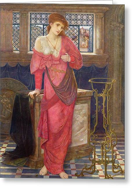 Williams Greeting Cards - Isabella and the Pot of Basil Greeting Card by John Melhuish Strudwick