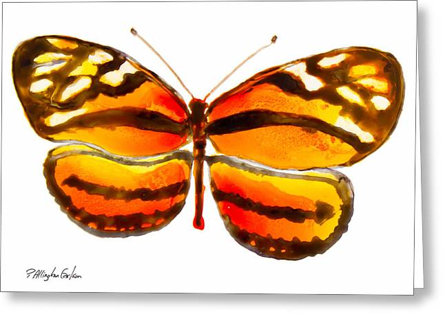 Yupo Paper Greeting Cards - Isabella Butterfly Greeting Card by Patricia Allingham Carlson
