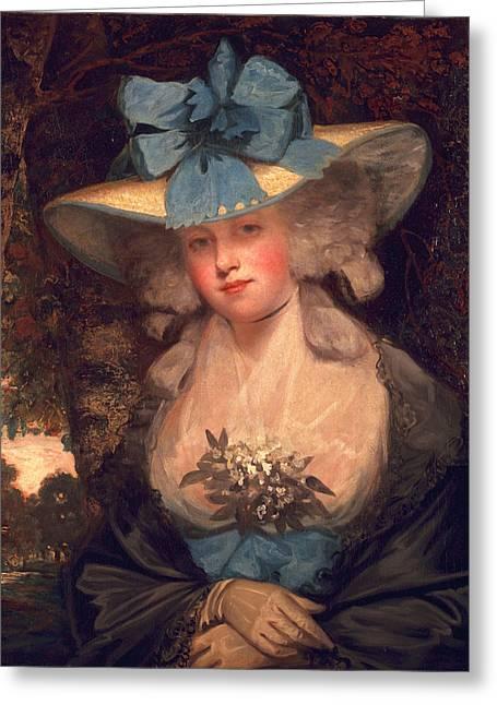 Powder Greeting Cards - Isabella Seymour Conway, Viscountess Greeting Card by John Hoppner