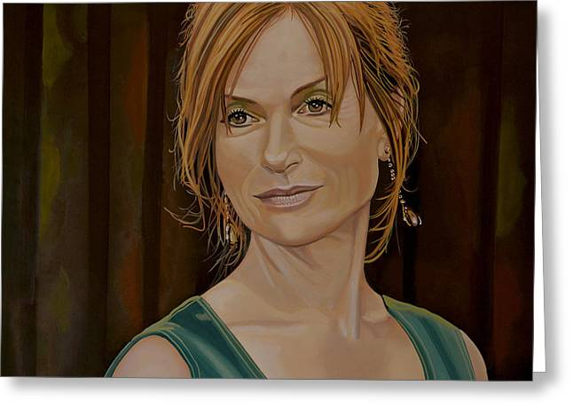 Teachers Greeting Cards - Isabelle Huppert Greeting Card by Paul  Meijering