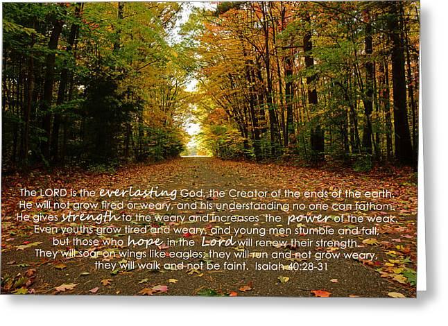 Isaiah Greeting Cards - Isaiah 40 Greeting Card by Melissa  Wegner
