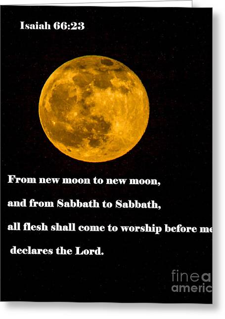 Isaiah Greeting Cards - Isaiah 66 Greeting Card by Robert Bales