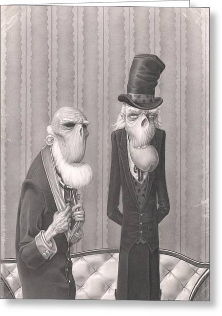 Fogg Greeting Cards - Isaiah and Bartholomew Greeting Card by Richard Moore