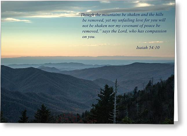 Isaiah Greeting Cards - Isaiah  Bible Verse Greeting Card by Debbie Green