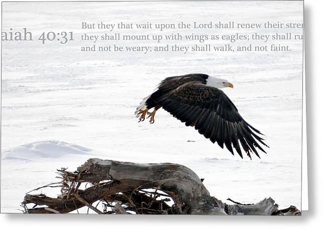Isaiah Greeting Cards - Isaiah chapter 40 verse 31 Greeting Card by Arlene Rhoda Nanouk