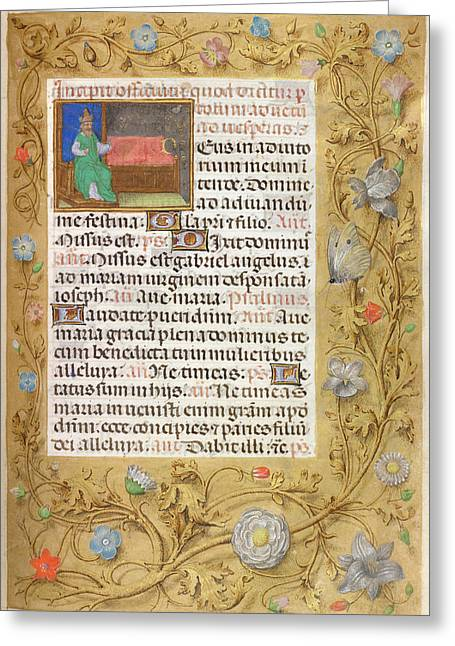 Isaiah Enthroned Greeting Card by British Library