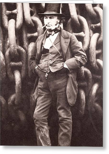Smoker Greeting Cards - Isambard Kingdom Brunel  Greeting Card by Robert Howlett