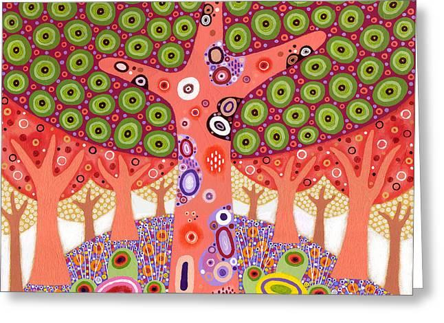 Colourful Bark Greeting Cards - Ishihara Hill Greeting Card by David Newton