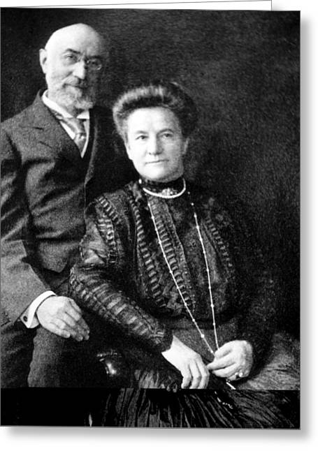Star Line Greeting Cards - Isidor and Ida Straus, Titanic victims Greeting Card by Science Photo Library