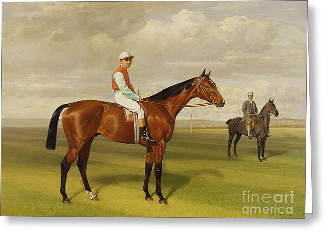 Jockeys Greeting Cards - Isinglass Winner of the 1893 Derby Greeting Card by Emil Adam