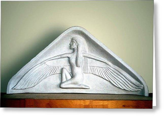 Ceramic Sculpture Ceramics Greeting Cards - Isis  Greeting Card by Charles Lucas