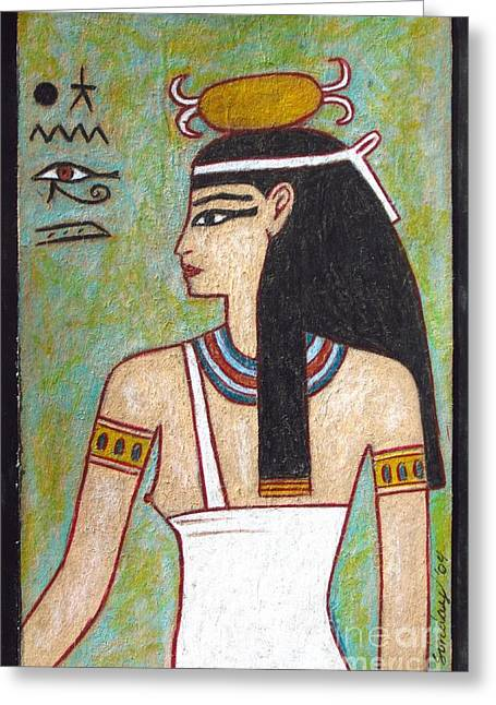 Egyptian Art Greeting Cards - Isis Greeting Card by Joseph Sonday