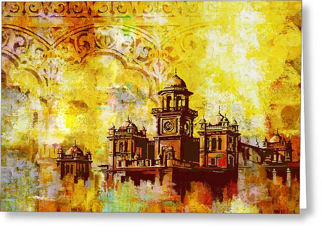Iqbal Greeting Cards - Islamia College Peshawar Greeting Card by Catf
