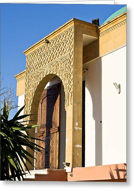 Arch Greeting Cards - Islamic archway Greeting Card by Tom Gowanlock