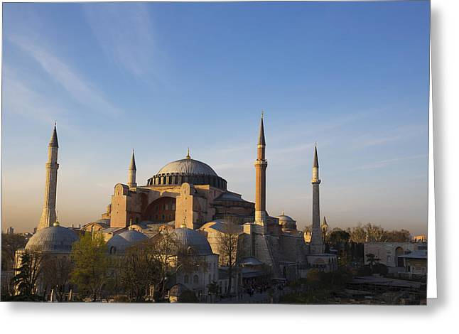 Islamic Mosque At Sunset Istanbul Greeting Card by Mark Thomas