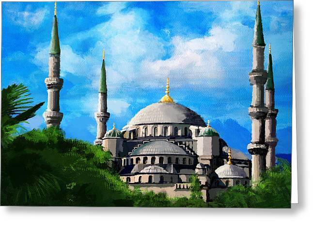 Forgiveness Greeting Cards - Islamic Mosque Greeting Card by Catf