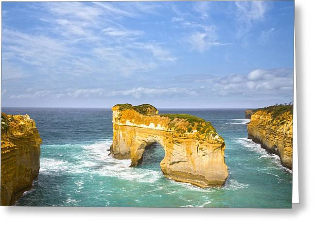Arch Greeting Cards - Island Arch Loch Ard Gorge Greeting Card by Colin and Linda McKie