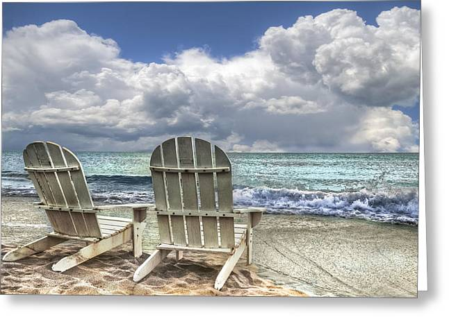Hobe Sound Greeting Cards - Island Attitude Greeting Card by Debra and Dave Vanderlaan