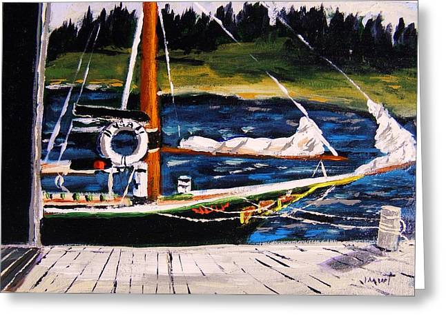 Best Sellers -  - Sailboats In Harbor Greeting Cards - Island Berth Greeting Card by John  Williams