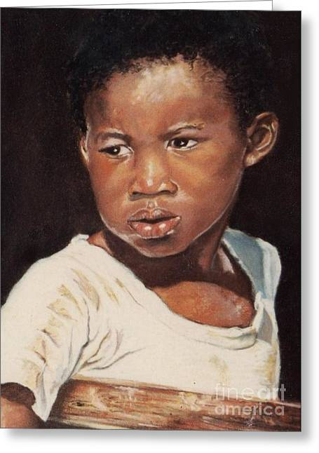 African Pastels Greeting Cards - Island Boy Greeting Card by John Clark
