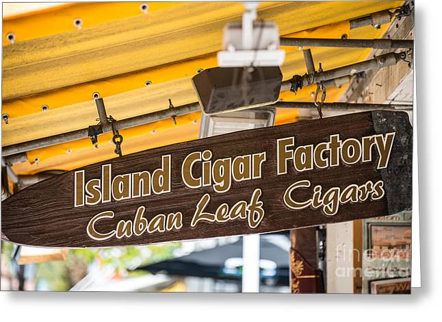 For Factory Greeting Cards - Island Cigar Factory Key West  Greeting Card by Ian Monk