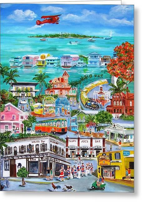 Island Daze Greeting Card by Linda Cabrera