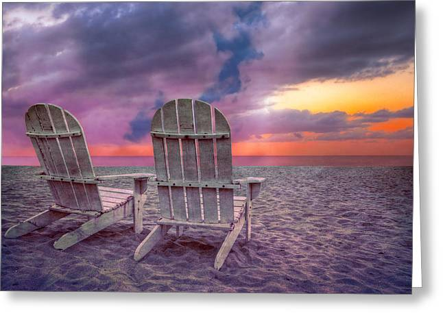 Lounge Photographs Greeting Cards - Island Dreams Greeting Card by Debra and Dave Vanderlaan