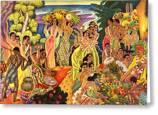 James Temple Greeting Cards - Island Feast Greeting Card by James Temple