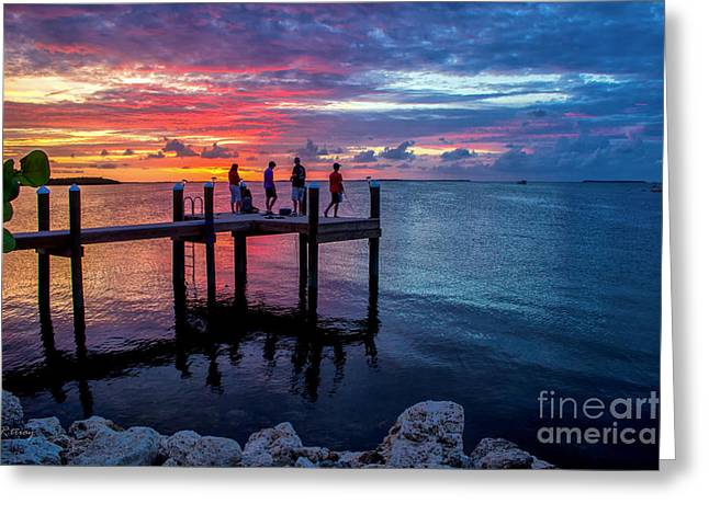 Isla Morada Greeting Cards - The Florida Keys- The Island of Love Greeting Card by Rene Triay Photography