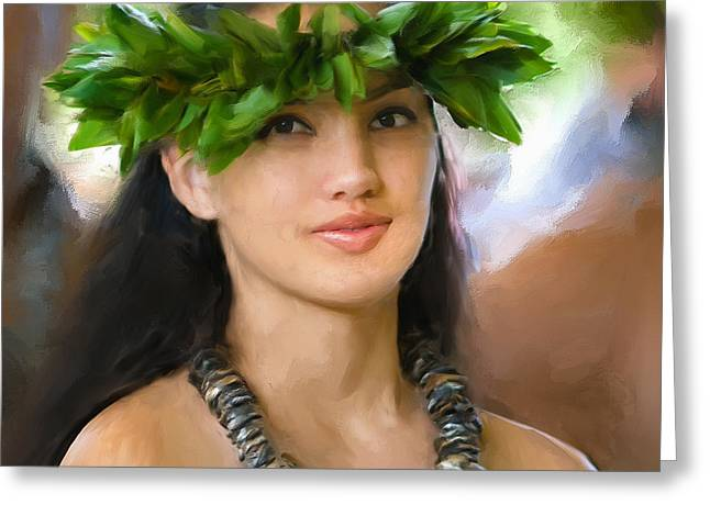 Lahaina Greeting Cards - Island Girl Greeting Card by Dominic Piperata