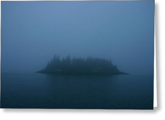 Tidal Photographs Greeting Cards - Island Gloaming Greeting Card by Mish Morgenstern