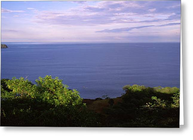 Panoramic Ocean Greeting Cards - Island In An Ocean, Papagayo Peninsula Greeting Card by Panoramic Images