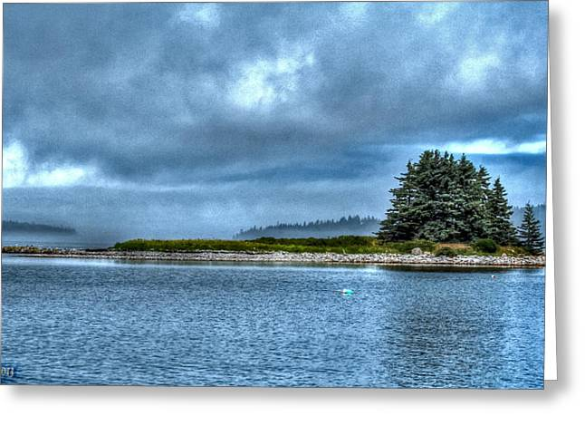 Haut Digital Greeting Cards - Island In The Mist Greeting Card by Murray Dellow