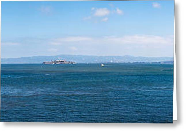 California Ocean Photography Greeting Cards - Island In The Ocean, Angel Island Greeting Card by Panoramic Images